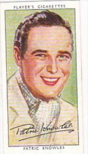 Player Cigarette Card Film Stars 3rd Series No 20 Patric Knowles