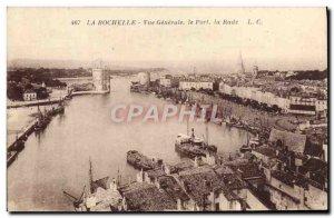Old Postcard La Rochelle Vue Generale The Port Rade