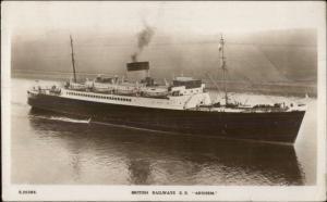 British Railways Steamship SS Arnhem Used 1948 Real Photo Postcard