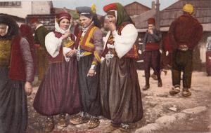 B80502 bauernwelber women costume  types  bosnia front/back image