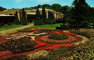 Pennsylvania Kennett Square Longwood Gardens Display Of Annuals Near Conserva...