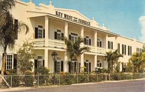 Key West Florida Handprint Fabrics Street View Vintage Postcard K92290