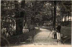 CPA PARIS (8e) Paysage sur Parc Monceau (534754)
