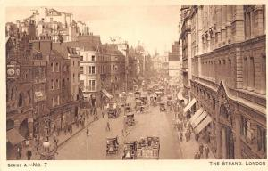 London The Strand No. 7 Animated Carriages Cars