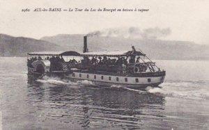 AIX-LES-BAINS, Le Tour du Lac du Bourget en bateau a vapeur, Savoie, France,