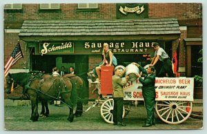 Columbus OH~Schmidt's Sausage Haus~Miss Ohio Judy Metcalf~Michelob Beer Keg~1968