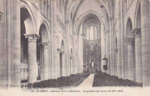 LE MANS, Interieur de la Cathedrale, La grande nef. ceuvre du XII siecle, Sar...
