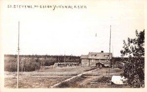 Yukon Alaska St Stevens Mission Real Photo Vintage Postcard AA17901