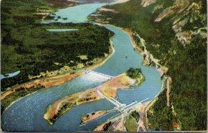 BONNEVILLE DAM, COLUMBIA RIVER, OREGON - POSTCARD VINTAGE