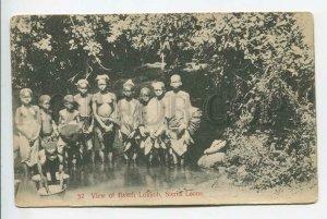 438955 AFRICA Sierra Leone Nude Girls & boys view of Bakeh Lokkoh postcard