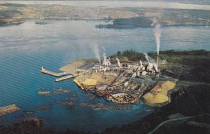 Aerial View, Elk Falls Pulp and Paper Saw Mill, Campbell River, Vancouver Isl...
