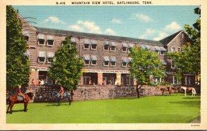 Tennessee Gatlinburg Mountain View Hotel 1941