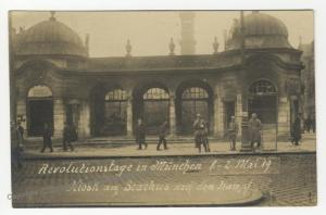 German Revolution 1919 Munich Freikorps Stachus Strassenkampf RPPC 51909