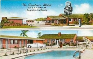 CA, Anaheim, California,The Sandman Motel, MWM No. 23,183F