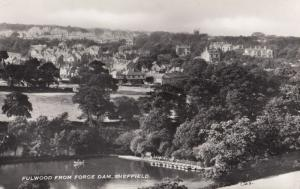 Fulwood from Forge Dam Stunning Yorkshire Real Photo Postcard