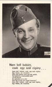 HUNGARIAN ACTOR GOZMANY GYORGY POSTCARD