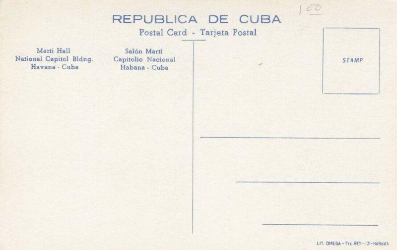HAVANA , Cuba , 00-10s ; Marti Hall, National Capitol Building