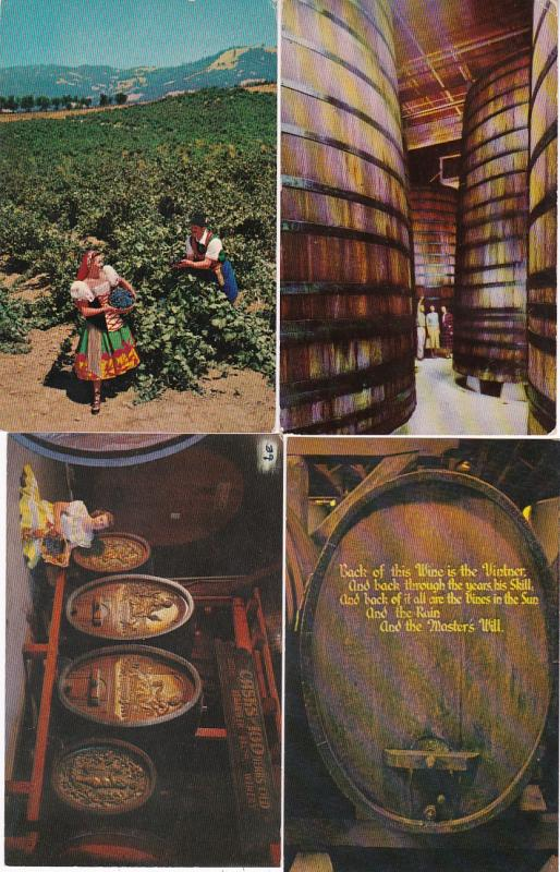 0082 Grabbag Auction 4 California Wine Related Postcards Starting At .99