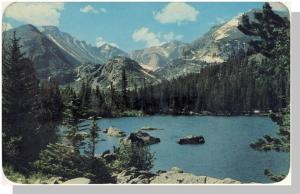 Scenic Rocky Mountain Park, Colorado/CO Postcard, Bear Lake