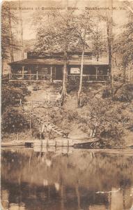 F16/ Buckhannon West Virginia Postcard 1924 Camp Kokena River