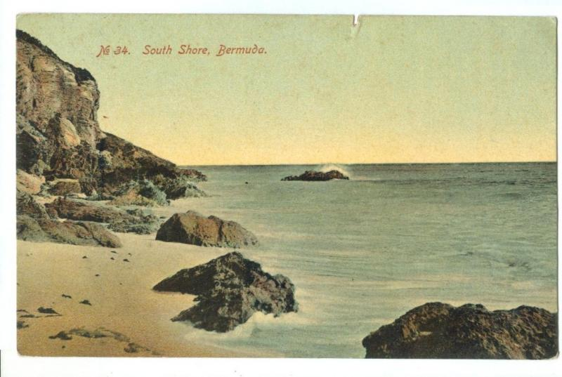 South Shore, Bermuda, early 1900s used Postcard