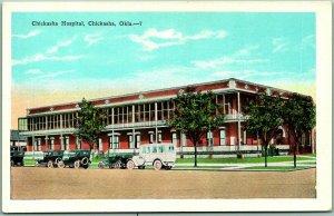 1930s Chickasha, Oklahoma Postcard CHICKASHA HOSPITAL Street View Unused