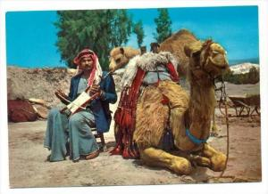 Native man playing the Rebec, Kingdom of Jordan, 50-60s