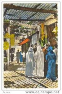 RP: Street Scene in Medina, Marrakech, Morocco, 1961