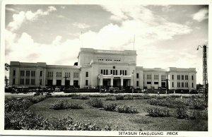 indonesia, JAVA JAKARTA, Setasiun Tandjong Priok, Railway Station (1950s) RPPC