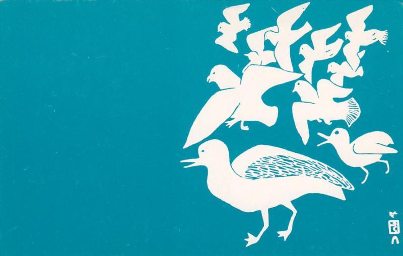 Eskimo art , Seagulls , Artist: Ulayu , WEST BAFFIN , NUNAVUT , Canada , 40-60s