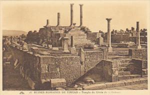 Tunisia Ruines Romaines de Timgad Temple du Genie de la Colonnie