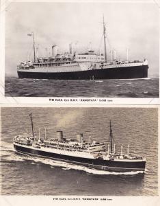 NZS Rangitata New Zealand Ship 2x Old Real Photo Postcard & Photocard s