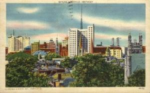 Skyline Louisville KY 1950 missing stamp