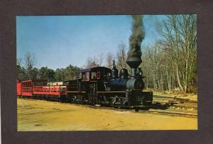 NJ Pine Creek Railroad Train Narrow Gauge Shay 6 Farmingdale New Jersey Postcard