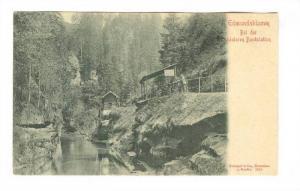 Edmundsklamm Bei der hinteren Bootstation, Germany, 1890s