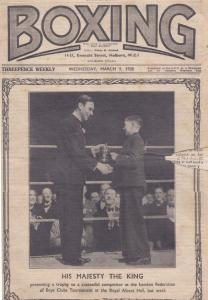 1933 Boxing Weekly Boys Boxer Royal Albert Hall King George Magazine Worn Book