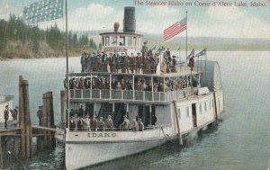 COEUR D'AlENE Lake , Idaho , 1900-10s ; Steamer Idaho