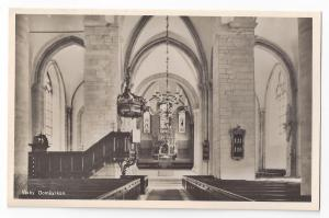 RPPC Sweden Visby Domkyrkan Church Interior Real Photo