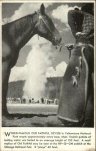 Yellowstone National Park Chicago Railroad Fair Old Faithful Postcard