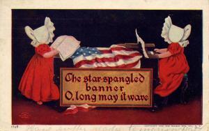 Sunbonnet Twins - The Star Spangled Banner - Artist: Wall