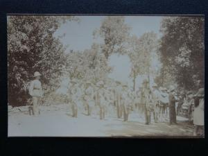 WW1 Military Band of Soldier Wearing Pith Helmets c1915 RP Postcard