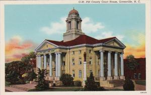 North Carolina Greenville Pitt County Court House Curteich