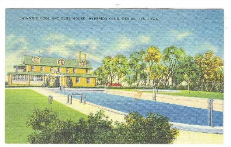 Swimming Pool and Club House, Hyperion Club, Des Moines, Iowa, PU-1930-1940s