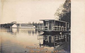 Messalonskee Lake ME HouseBoat RP Postcard
