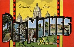 Large Letter - Des Moines, Iowa
