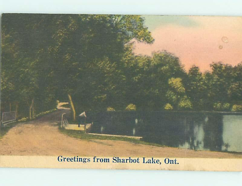 Divided-Back POSTCARD FROM Sharbot Lake - Near Perth Ontario ON HM6810