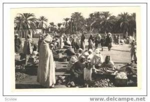 Open air Arab market at Oasis, 1920-40s