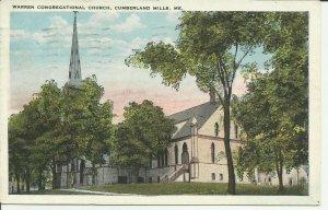 Warren Congregational Church, Cumberland Mills, Me.