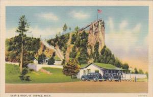 Michigan St Ignace Castle Rock Curteich
