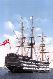 Postcard Royal Navy HMS Victory first-rate ship of the line Portsmouth c1900 62L